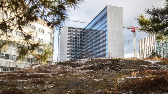 Husin Meilahden sairaalan alue.