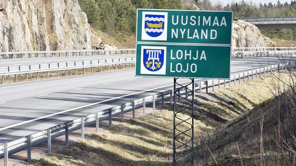 Uudenmaan ja Varsinais-Suomen raja.