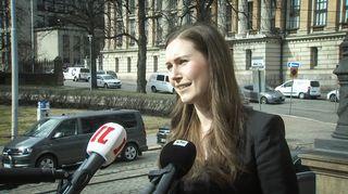 Видео: Sanna Marin Säätytalolla 30. maaliskuuta.