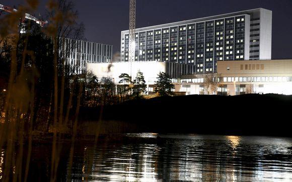 HUS:n Meilahden sairaala-alue Helsingissä.