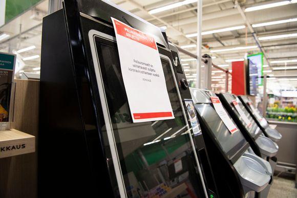 Espoon Ison Omenan markettikerroksen peliautomaatit oli pois käytöstä 24. maaliskuuta.
