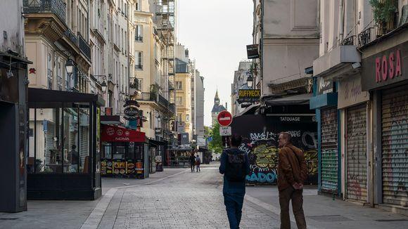 Hiljentynyt katu Ranskassa.