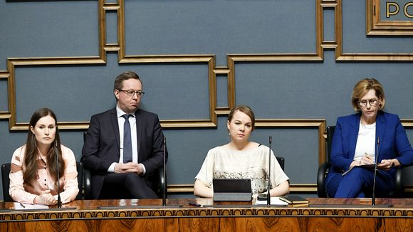 Sanna Marin, Mika Lintilä, Katri Kulmuni ja Tuula Haatainen