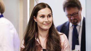 Pääministeri Sanna Marin hallituksen tiedotustilaisuudessa valtioneuvoston linnan tiedotustilassa Helsingissä 13. elokuuta.