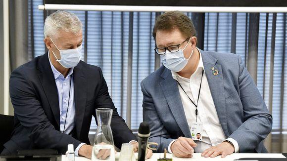 Taneli Puumalainen ja Mika Salminen