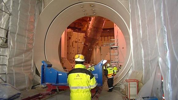 Olkiluodon ydinvoimalan rakennustyömaa