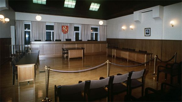 Korkeimman oikeuden istuntosali