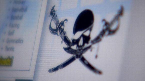 Pirate Bayn logo ruudulla
