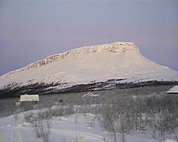 Näkymä kohti Saanatunturia 8. joulukuuta.