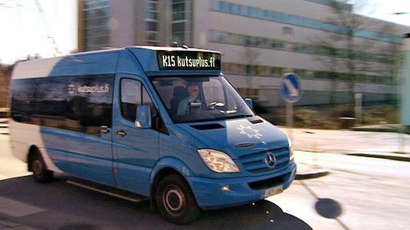 Helsingissä toimiva KutsuPlus on eräänlainen taksin ja bussin välimuoto.