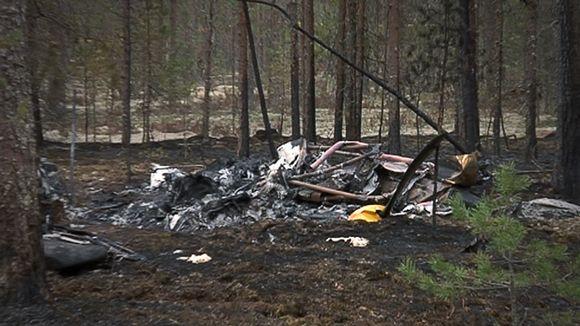 Jämijärven lento-onnettomuuden turmapaikka.