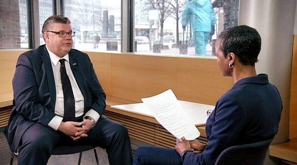 Video: Timo Soini Yle Newsin haastattelussa 3. maaliskuuta.
