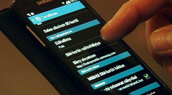 SIM-kortin vaihtohälytys matkapuhelimessa.