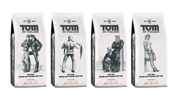 Tom of Finland -kahvipaketteja