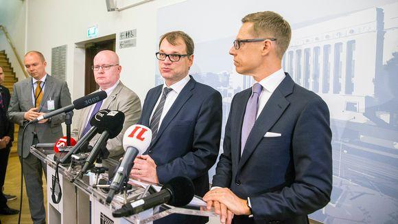 Jari Lindström, Juha Sipilä ja Alexander Stubb