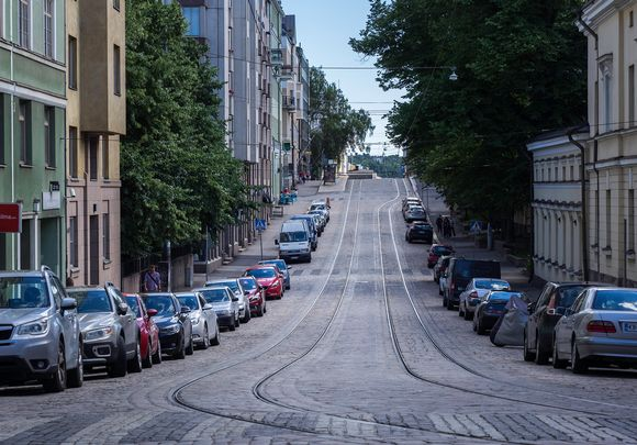 Katu Helsingin Kruununhaassa.