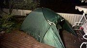 teltta terassilla