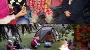 Lapsia teltassa