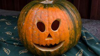Halloween kurpitsa.
