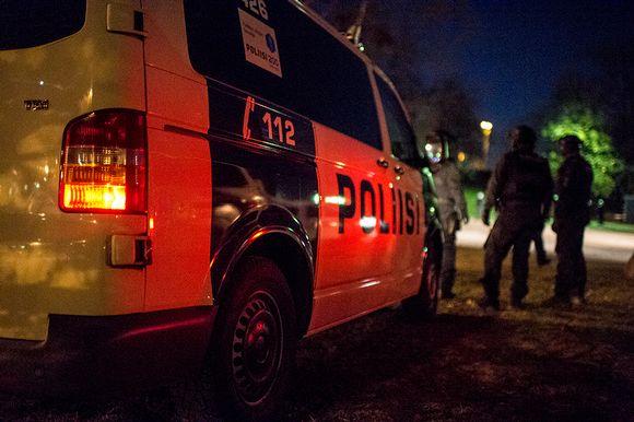 poliisiauto ja muutama poliisi