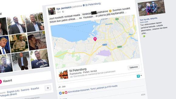 Kuvakaappaus Ilja Janitskinin Facebook-sivusta
