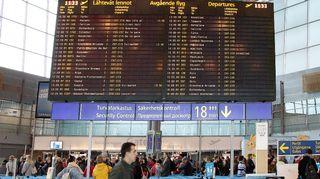 Aikataulunäyttö Helsinki-Vantaan lentoasemalla