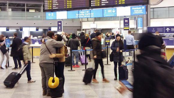 Helsinki-Vantaan lentokentän terminaali 2:sen lähtöaula.