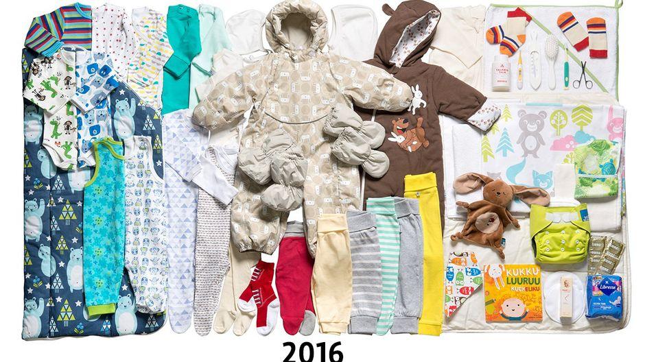 Äitiyspakkaus vuosi 2016