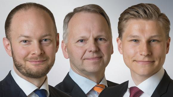 Sampo Terho, Jari Leppä ja Antti Häkkänen.