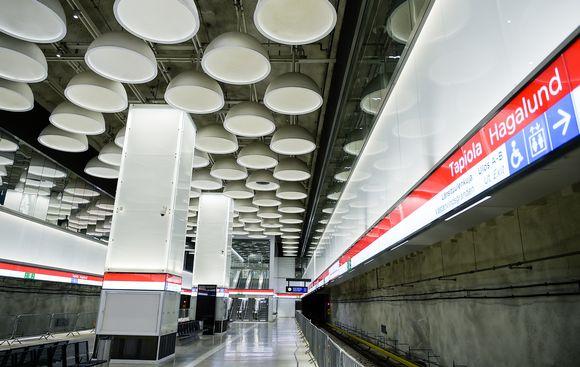 Tapiolan asema 10. helmikuuta.