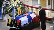 Tasavallan presidentti Sauli Niinistö presidentti Mauno Koiviston valtiollisten hautajaisten siunaustilaisuudessa.