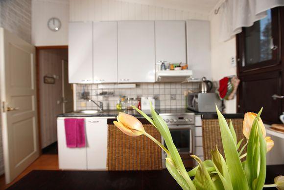 Keittiö on asunnon keskipiste.