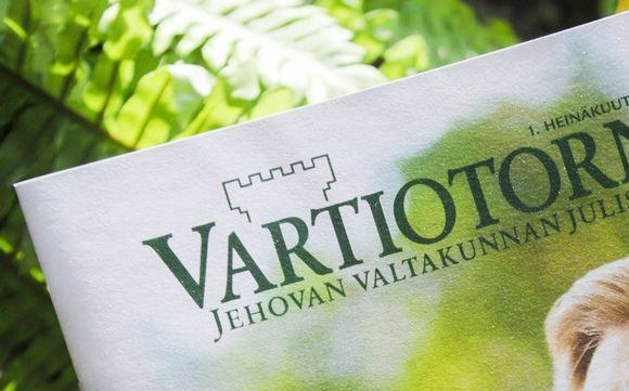 Jehovan todistajien Vartiotorni -lehti.