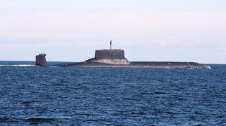 Maailman suurin ydinsukellusvene, venäläinen Dmitri Donskoi.