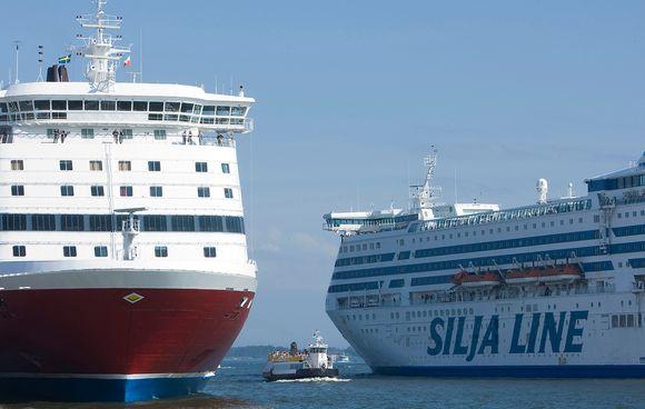 Viking- ja Silja Linen laivat satamassa