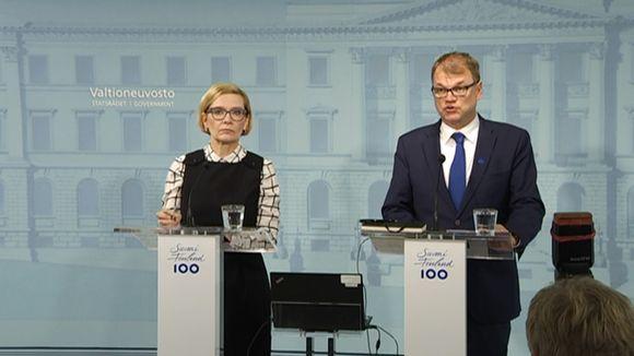 Paula Riskko ja Juha Sipilä