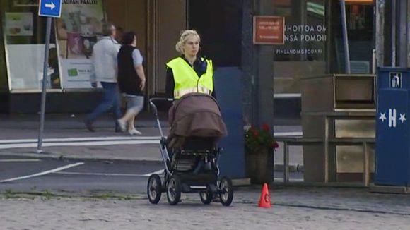 Video: Poliisi rekonstruoi tilanteen Turun keskustassa sunnuntaina 20. elokuuta.