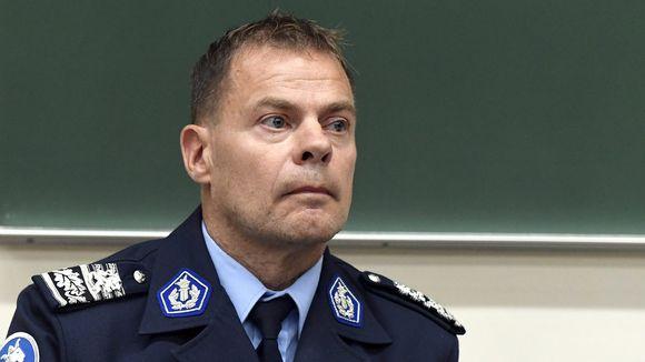 Keskusrikospoliisin päällikkö Robin Lardot keskusrikospoliisin tiedotustilaisuudessa Turussa 19. elokuuta 2017.