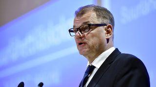Pääministeri Juha Sipilä puhuu Suomen suurlähettiläiden kokouksessa Helsingissä maanantaina 21. elokuuta 2017.