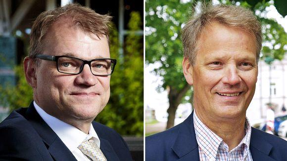 Juha Sipilä ja Hannu Takkula