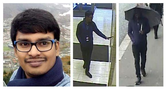 Hari Sudhan Thanneeru kolmessa kuvassa.