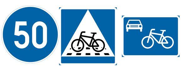 Uudet Liikennemerkit Vähimmäisnopeus Väistämisvelvollisuus Pyöräkatu