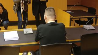 Syytetty Helsingin käräjäoikeidessa tiistaina 24. lokakuuta 2017