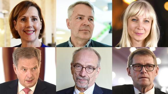 Tuula Haatainen, Pekka Haavisto, Laura Huhtasaari, Sauli Niinistö, Nils Torvalds, Matti Vanhanen