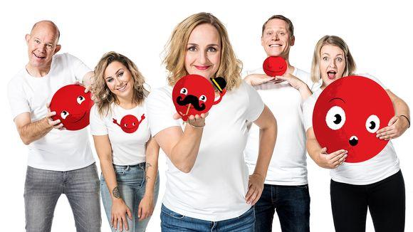 Kaj Kunnas, Alma Hätönen, Sanna Stellan, Jarkko Tamminen ja Jenni Poikelus.