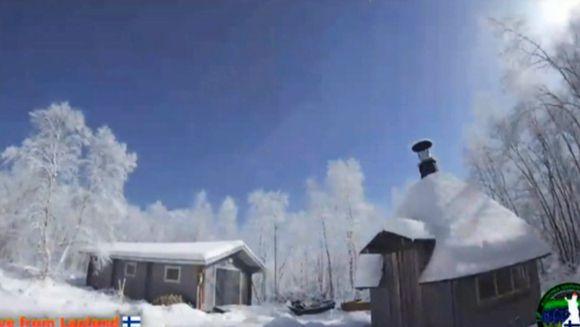 Video: meteoriitin valaisema taivas