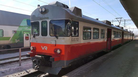 Lähijuna Kouvolan rautatieasemalla
