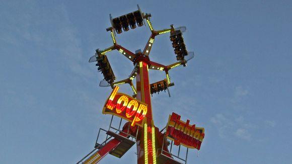 Loopfighter-laite Tykkimäen huvipuistossa.