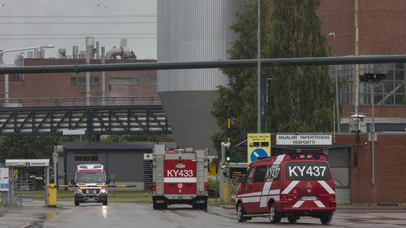 Anjalankoski, Stora Enso, tulipalo, paperikone 2
