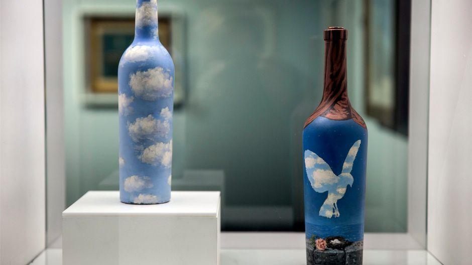 Taivaspullo, 1943, Merimaisema linnun kera, 1961, René Magritte, Amos Rex